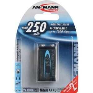 Punjiva NiMH baterija 9V 250mAh - ANSMANN