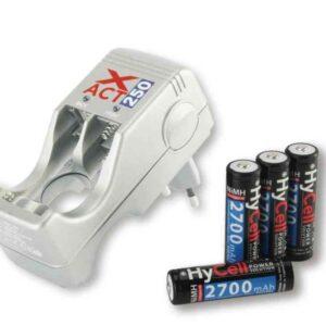 Punjač baterija XACT 250 + 4x AA 2700 mAh baterije - HyCell by ANSMANN