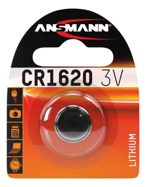 Litijska baterija CR 1620 / 3V - ANSMANN