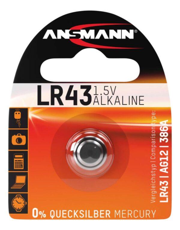 Alkalna baterija LR 43 1.5 V - ANSMANN