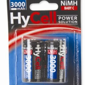 punjive NiMH baterije C 3000 MAH HYcell 2/1