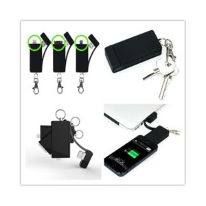 3U1 Key Chain Charger Micro USB 8GB crni KR800