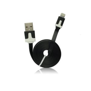 iPhone 5/5S USB lightning data kabel flat crni