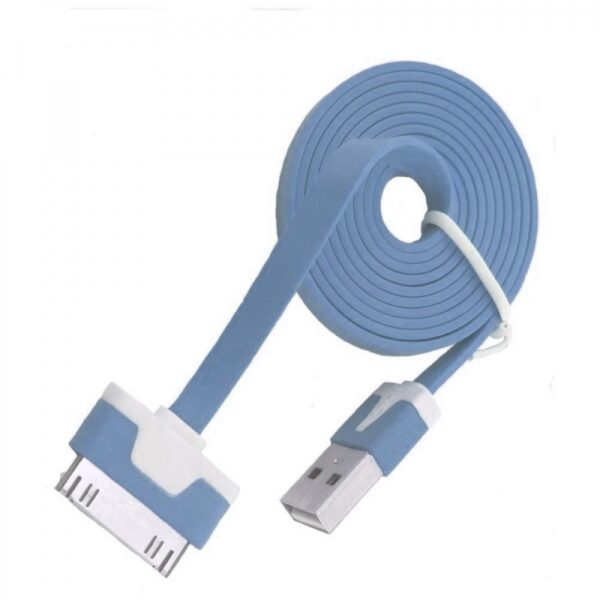 iPhone 3/3s/4/4s data kabel flat 1m (plavi) - FORCELL