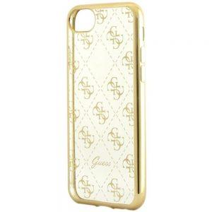 GUESS iPhone 7/8 maskica (zlatno-prozirna)