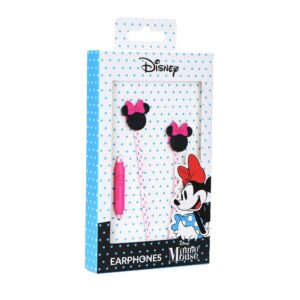 Earphones with licence MICKEY MAT HEAD 3D roza