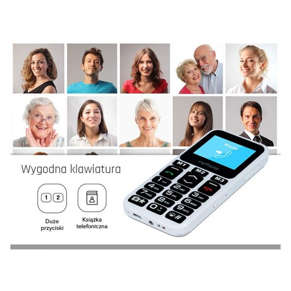 Mobilni telefon za seniore - myPhone Halo Mini 2 (crni)