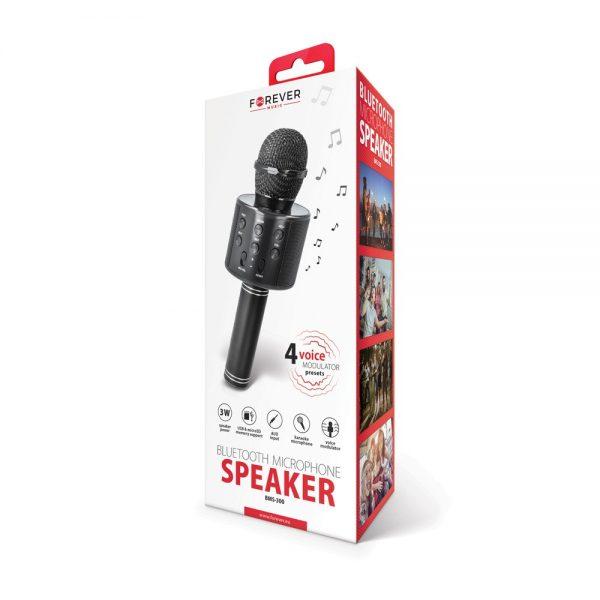 Karaoke Mikrofon s Bluetooth Zvučnikom BMS-300 crni - FOREVER