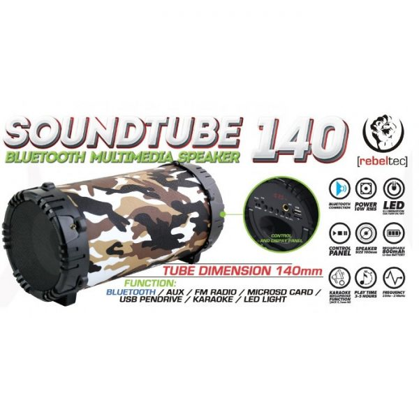 Bluetooth Zvučnik SOUNDTUBE 140 moro - REBELTEC