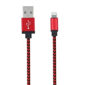 iPhone 5/6/7/8/X lightning na USB kabel - crveni - FOREVER
