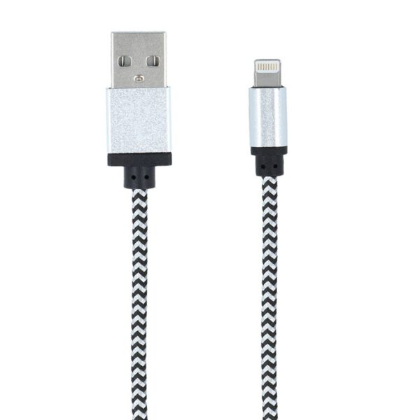 iPhone 5/6/7/8/X lightning na USB kabel - bijeli - FOREVER