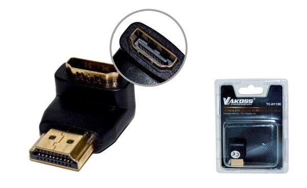 Adapter HDMI ženski na DVI-D muški (kutni) - VAKOSS