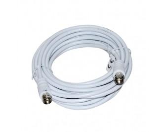 Antenski kabel 2 x ženski tip F ( 5 m ) - bijeli - VAKOSS
