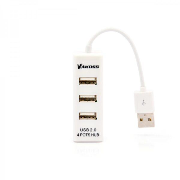 HUB USB 2.0 4 x port ( bijeli ) - VAKOSS