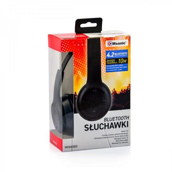 Naglavne slušalice Bluetooth ( crne ) - MSONIC