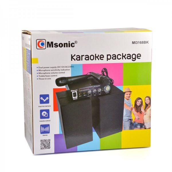 Karaoke SET 20W sa mikrofonima - MSONIC