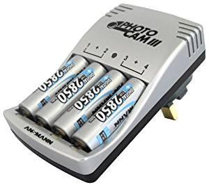 Punjač baterija Ansmann Photocam III + 4 AA