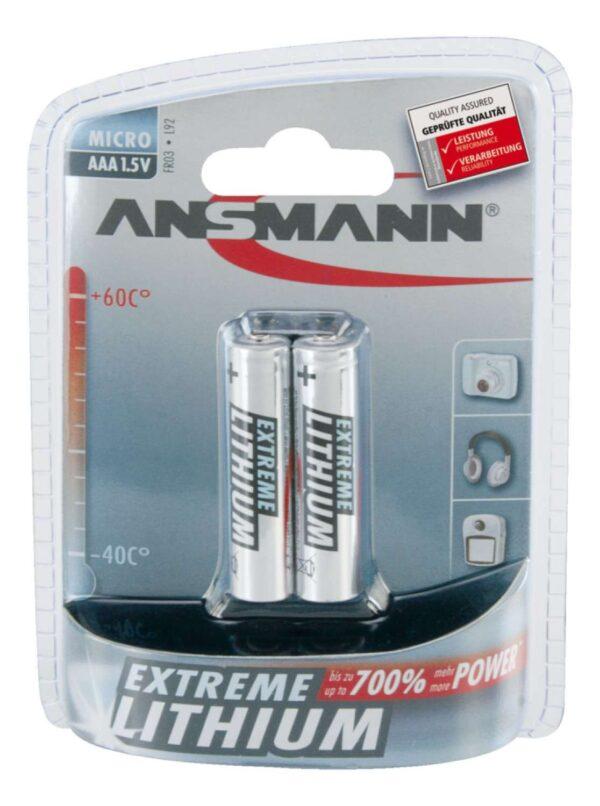 Baterija Litijska AAA/LR03/ 1.5V (2 kom.) - ANSMANN