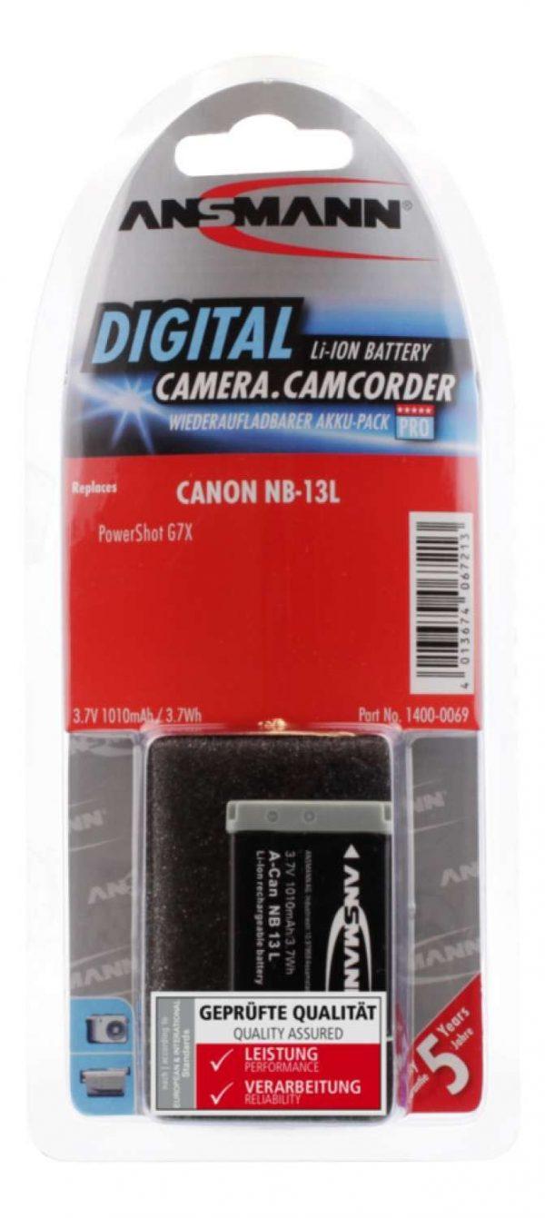 Canon NB 13L Li-Ion baterija - Ansmann