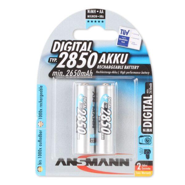 Punjive baterije MaxE BLUE 2850mAh/AA/NiMH/1.2V/ 2 kom - ANSMANN