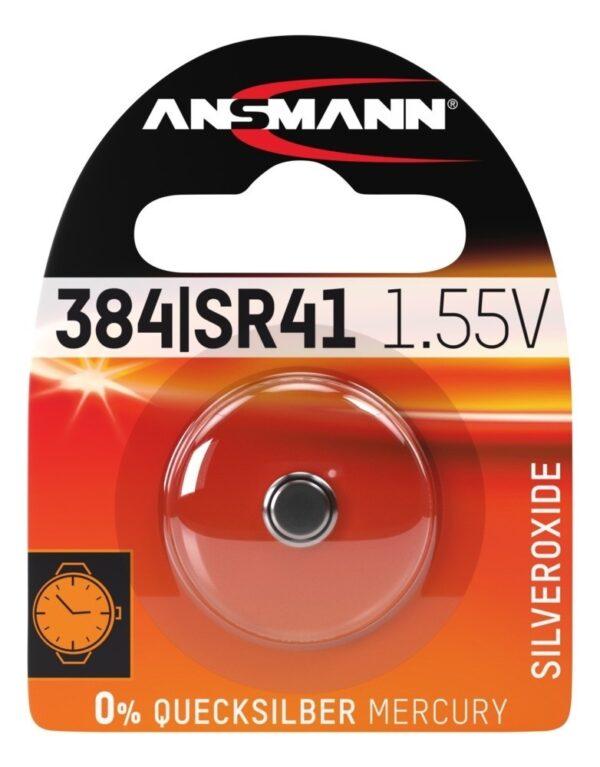 Baterija Silver Oxide SR41/SR736/384/392 1.55V - ANSMANN