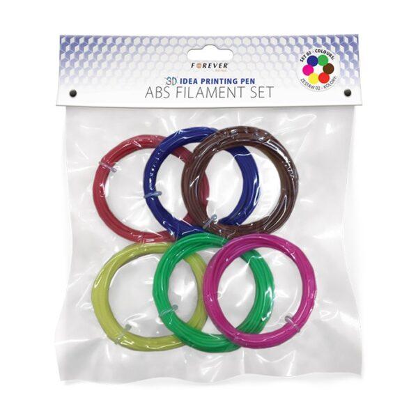ABS punjenje za PP-100 set - 2 crvena, plava, zelena, žuta, smeđa, roza