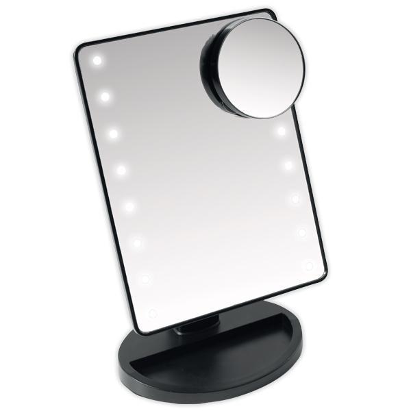 Kozmetičko ogledalo sa LED rasvjetom i Bluetooth zvučnikom (srebrni) - SOUNDLOGIC