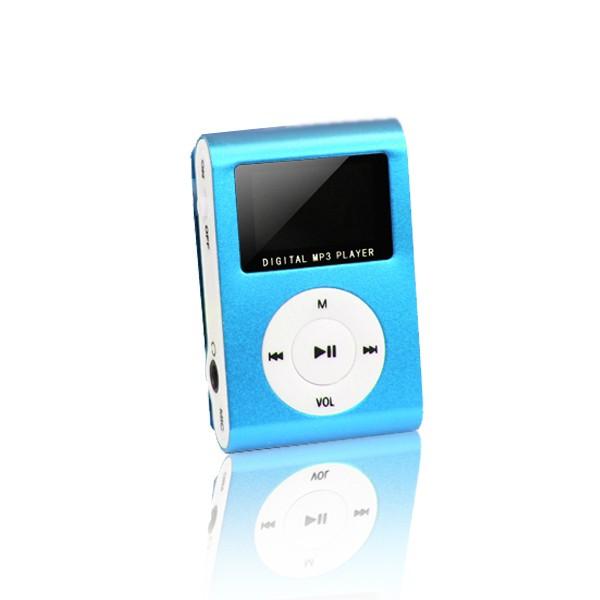 MP3 player s LCD zaslonom + slušalice Plavi - SETTY