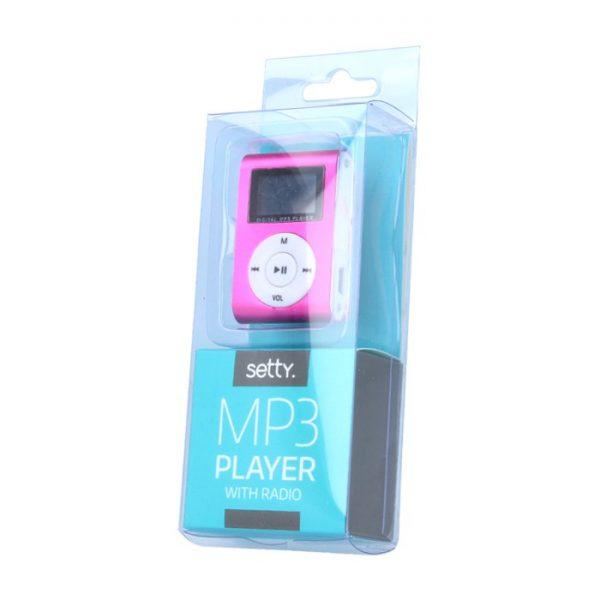 MP3 player s LCD zaslonom + slušalice, Plava - SETTY