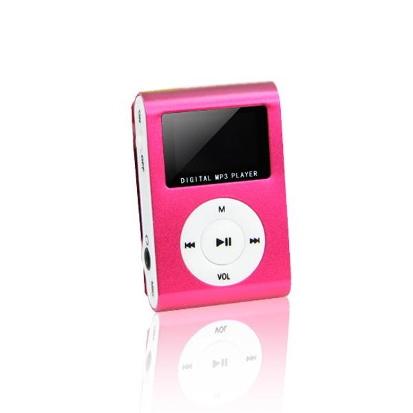 MP3 player s LCD zaslonom + slušalice Crvena - SETTY