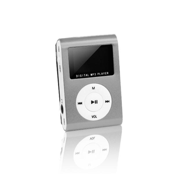 MP3 player s LCD zaslonom + slušalice Sivi - SETTY