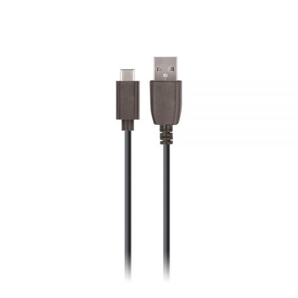 Zidni punjač USB 2.4A + Type - C kabel (1m), Crni - SETTY