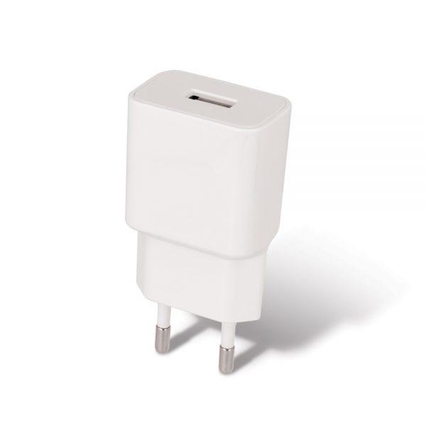 Zidni punjač USB 2.4A + iPhone Lightning kabel (1m ), bijeli - SETTY