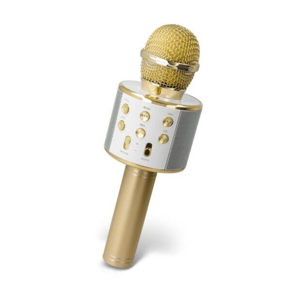 Karaoke Mikrofon s Bluetooth Zvučnikom BMS-300 zlatni - FOREVER