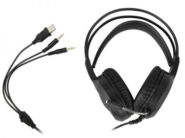 Gaming LED naglavne slušalice s mikrofonom CERBERUS ADRENALINE
