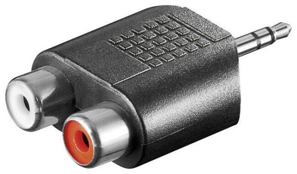 Audio adapter 3.5mm na 2 x RCA - GOOBAY
