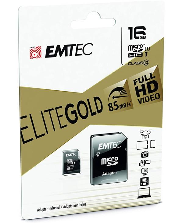 Memorijska kartica Eite Gold MicroSD + SD adapter, 16GB - EMTEC