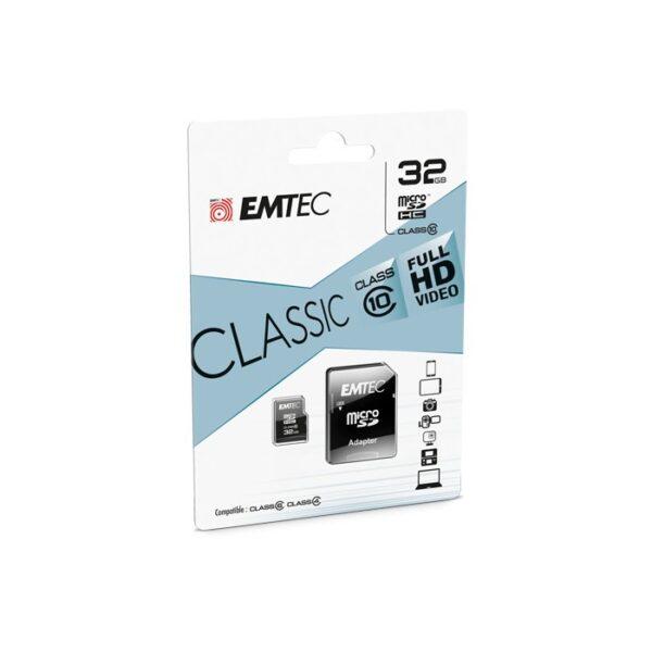 Memorijska kartica MicroSD + SD adapter, 32GB - EMTEC