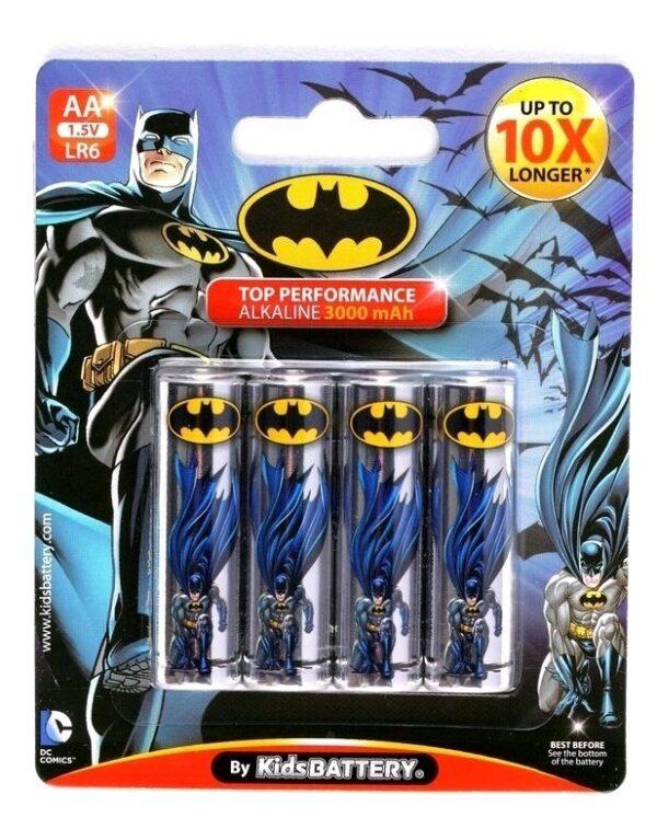 Alkalna baterija Batman, LR06 AA 1.5 V (4 kom.) - KIDS BATTERY