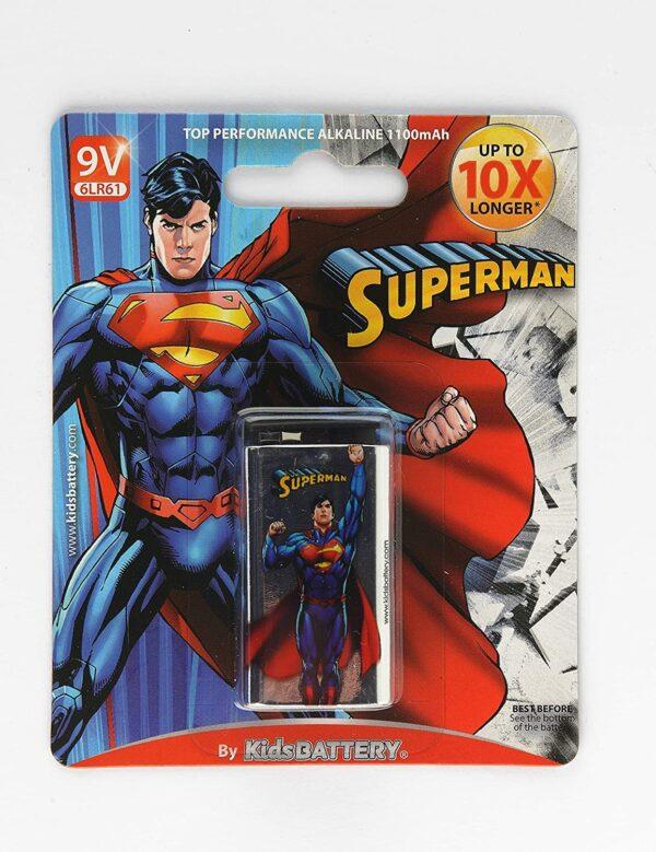 Alkalna baterija Superman, 6LR61, 9V - KIDS BATTERY