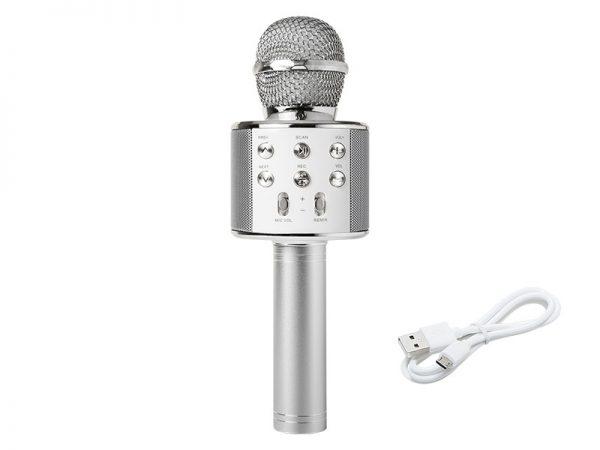 Karaoke Mikrofon s Bluetooth Zvučnikom PRM402 (srebrni)