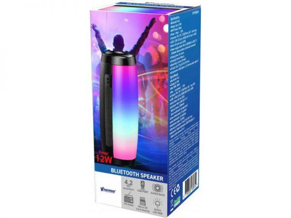 Bluetooth zvučnik SP-B2862K s LED rasvjetom, crni - VAKOSS