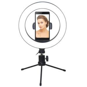Prstenasta LED make-up svjetiljka sa stativom 32cm LD-G322K - VAKOSS