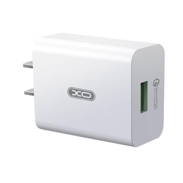 Zidni punjač L36 1USB QC 3.0 + lightning kabel Crni - XO
