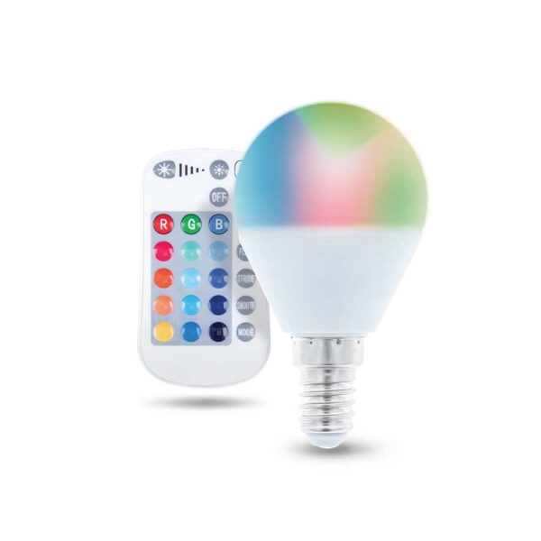 LED žarulja RGB bijela 5W + Daljinski upravljač - FOREVER