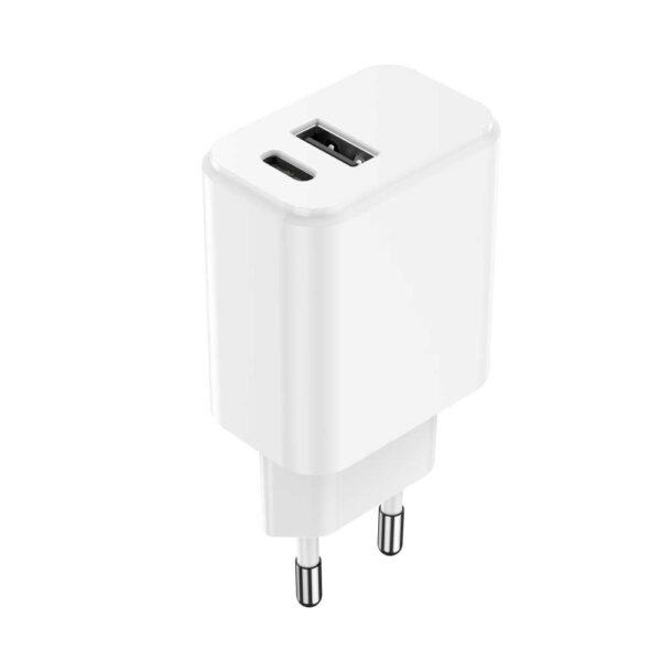 Punjač USB-C + USB 20W MXTC-04 PD Bijeli - MAXLIFE_1